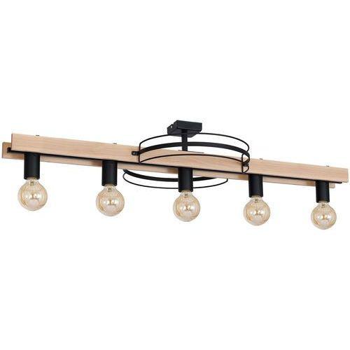 Plafon Luminex Dalvin 8235 lampa sufitowa 5x60W E27 czarny / brązowy (5907565982350)