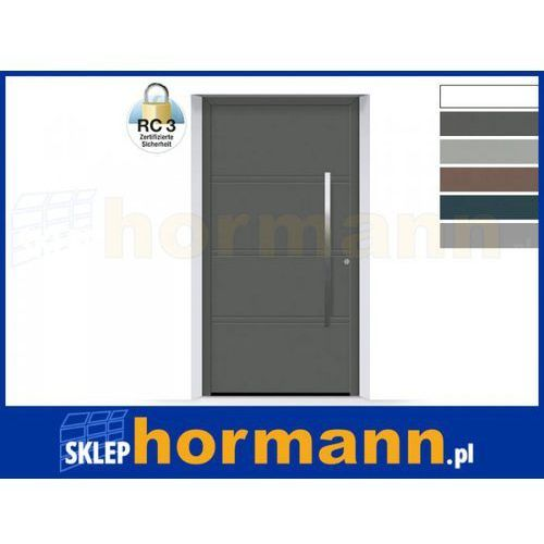 Drzwi aluminiowe ThermoSafe 2018, Wzór 872, kolor do wyboru, przeciwwłamaniowe RC 3