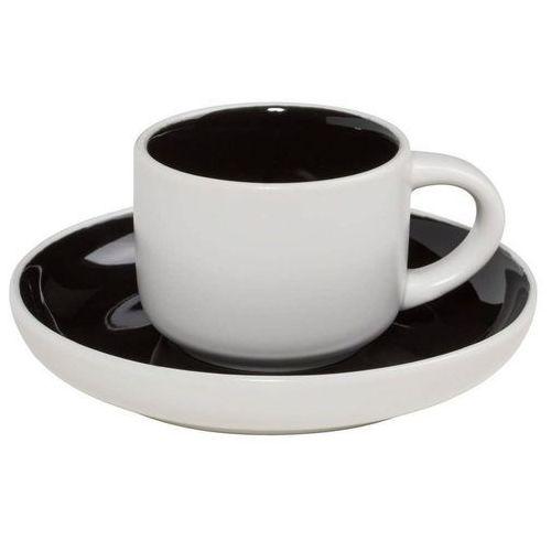 Maxwell & williams - tint - filiżanka do espresso, biało-czarna - czarny