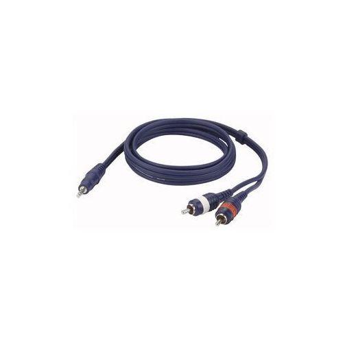 Kabel audio mini jack stereo - 2 x rca męski wyprodukowany przez Dap audio