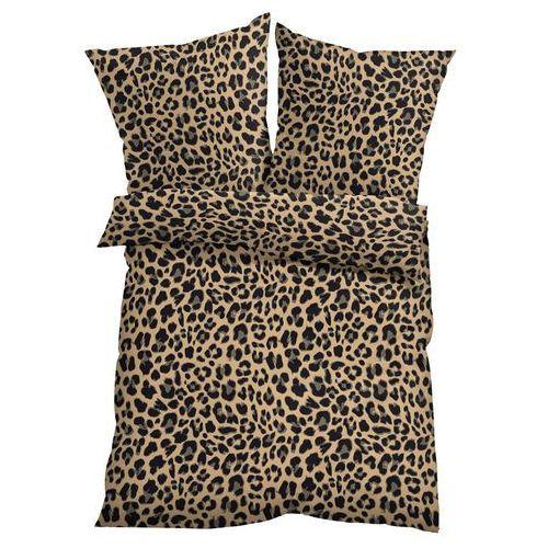 Bonprix Pościel w cętki leoparda brązowy