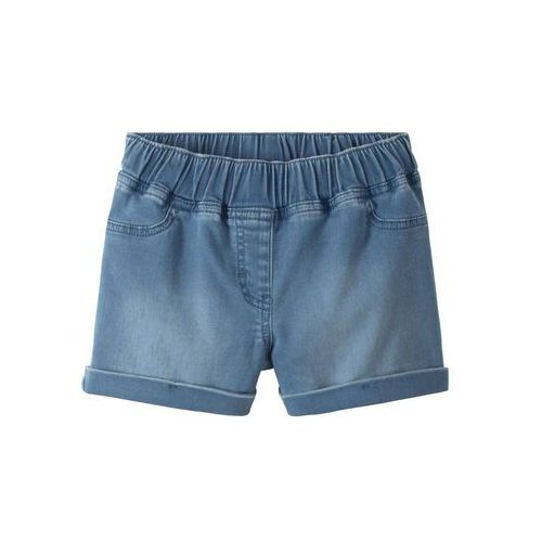 """Bonprix Szorty dresowe dziewczęce w optyce dżinsowych niebieski """"bleached"""""""