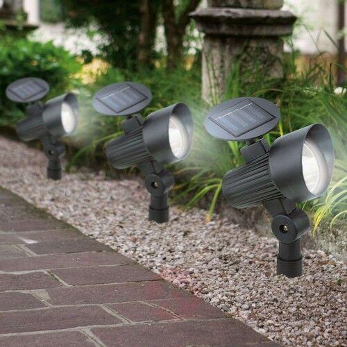 Solarna lampa LED z grotem ziemnym zestaw 3 szt.