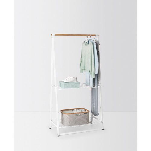 Brabantia - wieszak na ubrania z półkami, 99,50 cm, biały