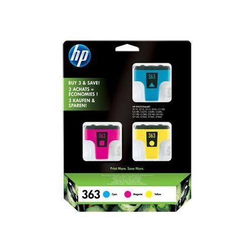 HP Inc. Trójpak tuszy nr 363 Błękitny(C)/Purpurowy(M)/Żółty(Y) CB333EE, 1_87154