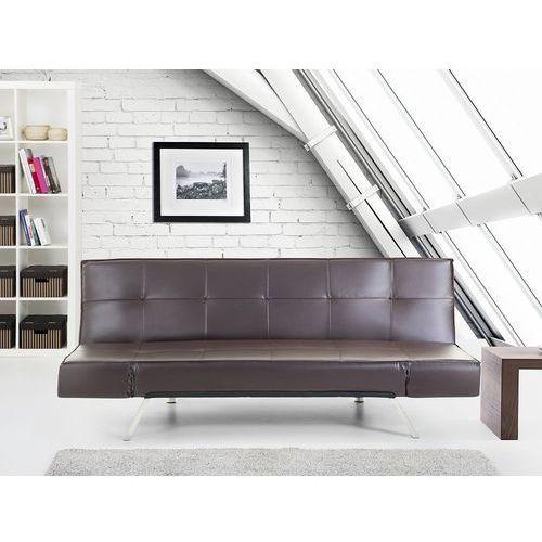 Rozkładana sofa kolor brązowy ruchome podłokietniki bristol marki Beliani