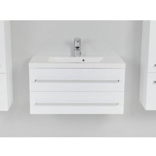 Antado  variete szafka podumywalkowa wisząca z dwiema szufladami 80x39x40 biały połysk fm-c-442/8/2, kategoria: szafki łazienkowe