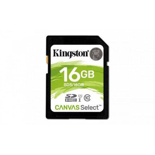 Karta pamięci Kingston SDHC Canvas Select 16GB UHS-I Class 10 (0740617275711)