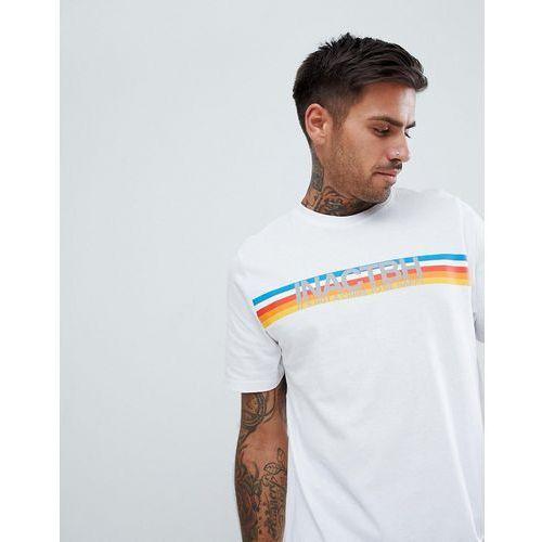 t-shirt in white with slogan print - white marki Pull&bear