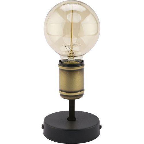 Lampa lampka oprawa stołowa edison TK Lighting Retro 1x60W E27 czarna/złota 2971