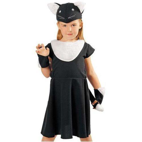 """Strój dla dzieci """"czarny kotek - sukienka"""", , rozm. 122/128 cm marki Kraszek"""