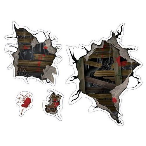 Dekoracja ścienna na halloween - 4 el. marki Amscan