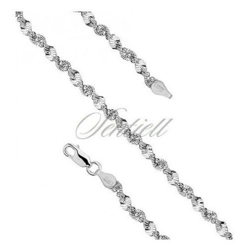 Silver (925) twisted chain necklace with balls Ø 040 weight from 10,0g - TWMB40