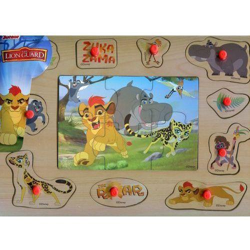Układanka drewniana z pinezkami król lew marki Playme