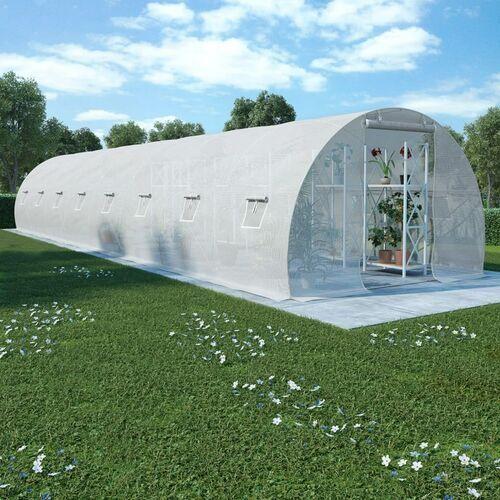 VidaXL Szklarnia ogrodowa, stalowa konstrukcja, 36 m², 1200x300x200 cm (8719883609232)
