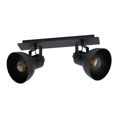 43432 BARNSTAPLE 1 spot drewno, stal czarny / stal czarny KINKIET PLAFON LAMPA EGLO VINTAGE LOFT, 43432