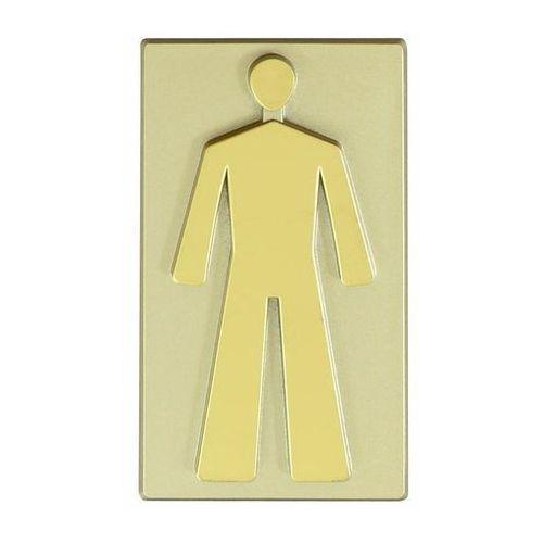 Oznaczenie WC męskie 4,7 x 8,5 cm oliwka