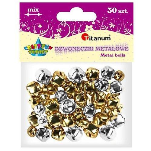Titanum Dodatek dekoracyjny craft-fun dzwoneczki dekoracyjne 6,8,10mm zl/sr diyxm040 (m040) (5907437666203)