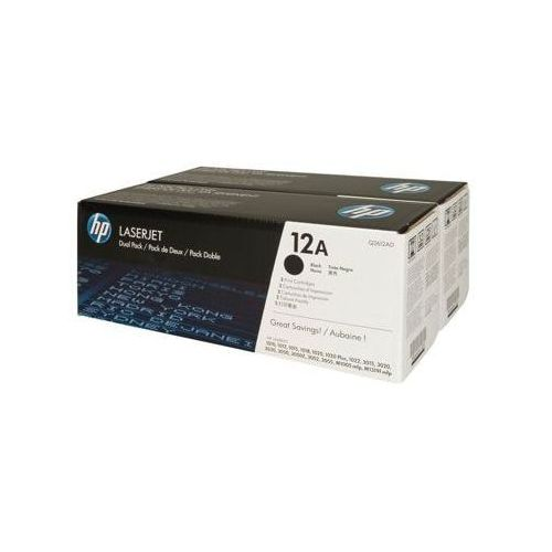 Tonery oryginalne hp 12a (q2612ad) (czarne) (dwupak) - darmowa dostawa w 24h marki Hewlett-packard (hp)