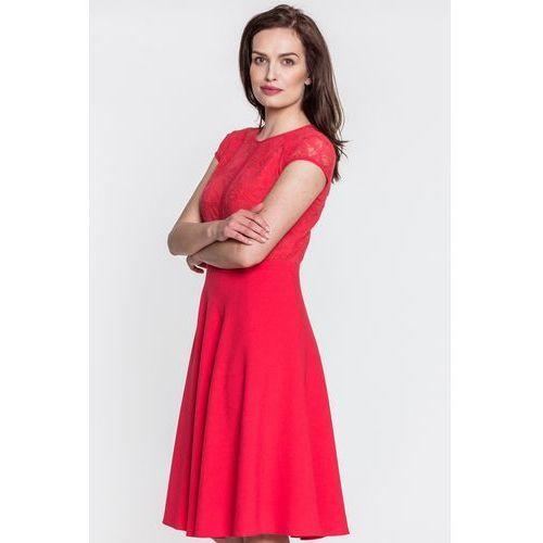 Czerwona sukienka z koronką - Metafora, 1 rozmiar
