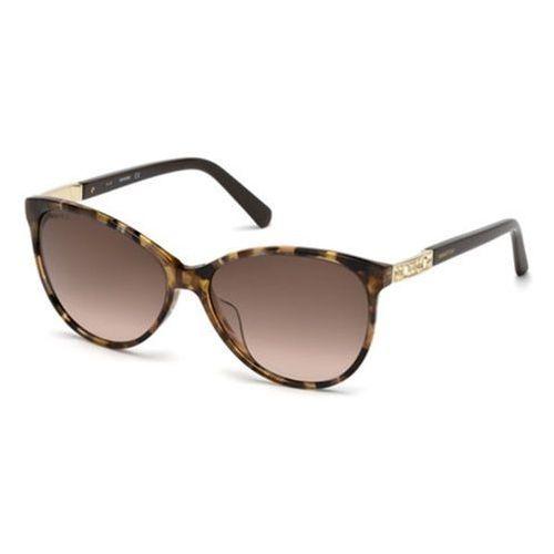 Okulary Słoneczne Swarovski SK 0123-H 52F, kolor żółty
