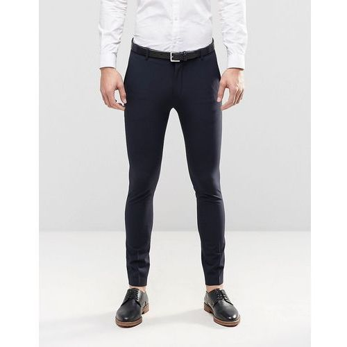 Selected homme  super skinny suit trousers with stretch - blue