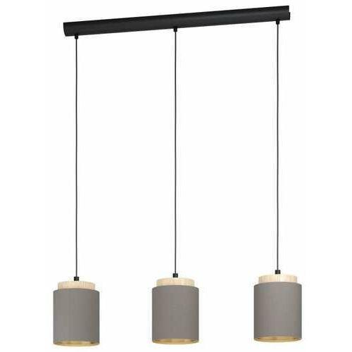 Eglo albariza 99446 lampa wisząca zwis 3x40w e27 czarna/brązowa (9002759994464)