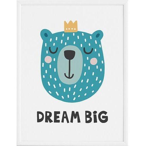 Plakat dream big 70 x 100 cm marki Follygraph
