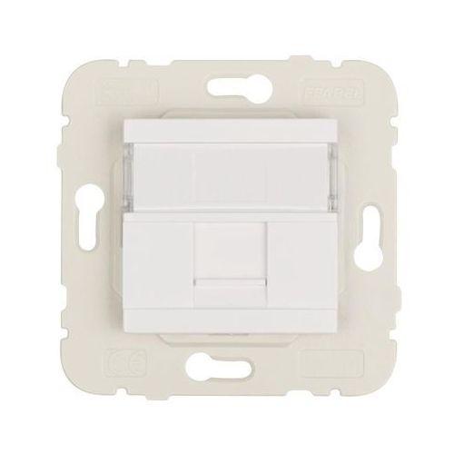 Gniazdo komputerowe quadro 45 biały marki Efapel