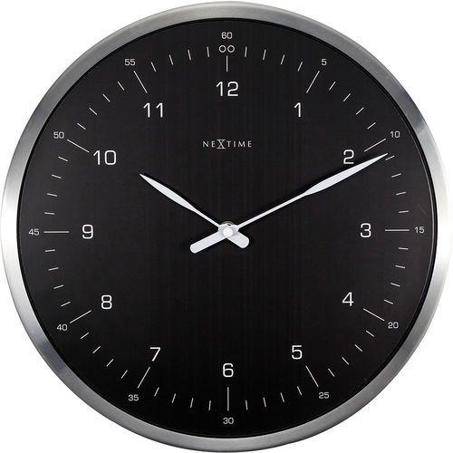 Zegar ścienny 60 minutes Nextime czarny cyferblat (3243 ZW)