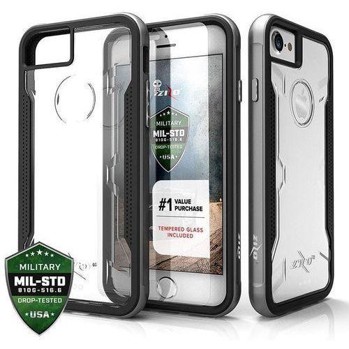 Zizo shock case etui obudowa iphone 8 / 7 / 6s / 6 (gray) + szkło hartowane na ekran