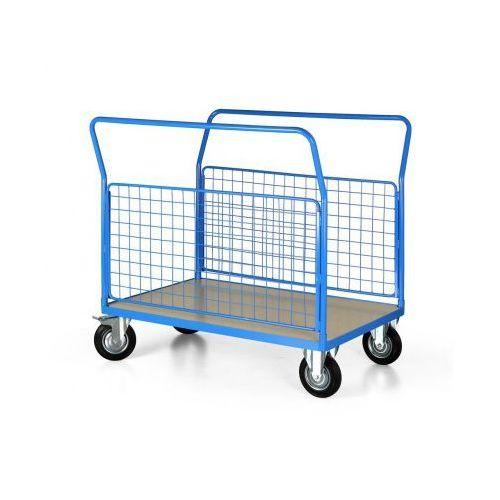 Wózek platformowy z 2 ścianami drucianymi, 1200x800 mm marki B2b partner