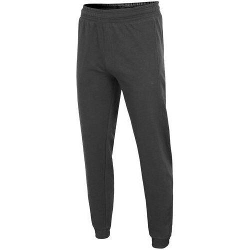 4f Spodnie dresowe męskie spmd001 - ciemny szary