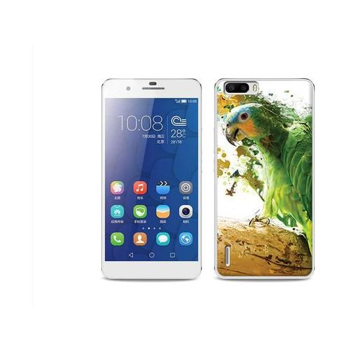 Foto case - huawei honor 6 plus - etui na telefon foto case - zielona papuga wyprodukowany przez Etuo.pl