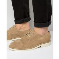 Selected Homme Noah Suede Brogues - Stone