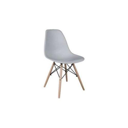 """Krzesło """"Monza""""- szare z bukowymi nogami"""
