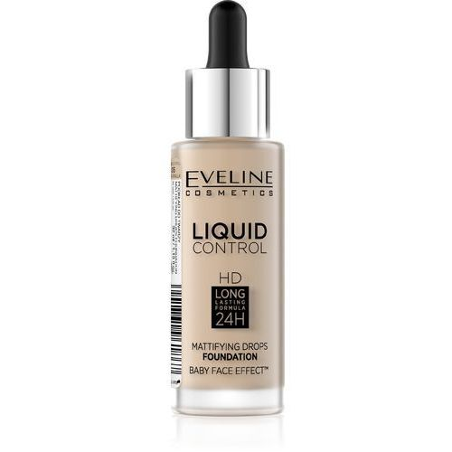Eveline Liquid Control HD Podkład do twarzy z dropperem nr 015 Light Vanilla 32ml