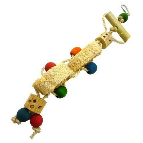 Naturalna zabawka dla ptaków domowych - natural loofa marki Happypet
