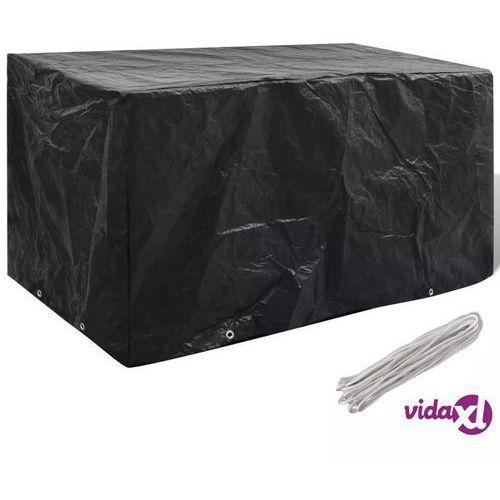 pokrywa na meble ogrodowe z 8 oczkami do przewlekania 180 x 70 90 cm marki Vidaxl
