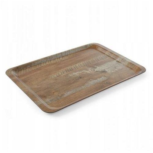 Taca melaminowa z nadrukiem drewna - dąb, wym. 37x53 cm marki Hendi