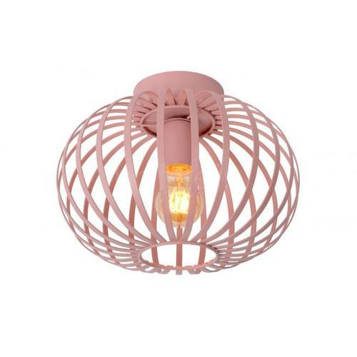 Lucide Merlina 78193/30/66 Plafon lampa sufitowa 1x40W E27 Różowy/Szary, 78193/30/66