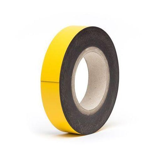 Haas Magnetyczna tablica magazynowa, żółte, rolka, wys. 40 mm, dł. rolki 10 m. zapewn