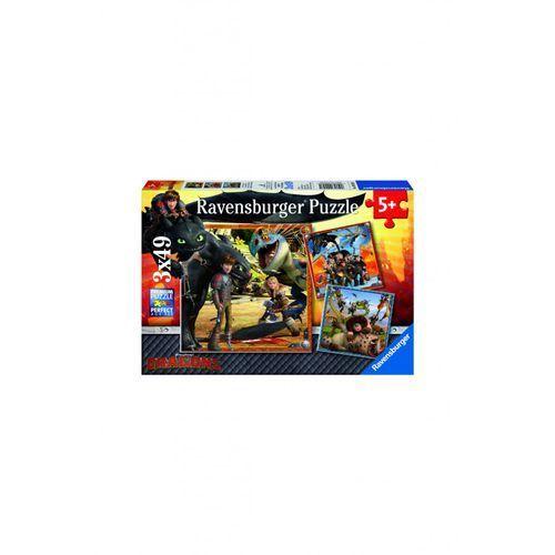 Ravensburger Puzzle jak wytresować smoka 3x49 2y36fh