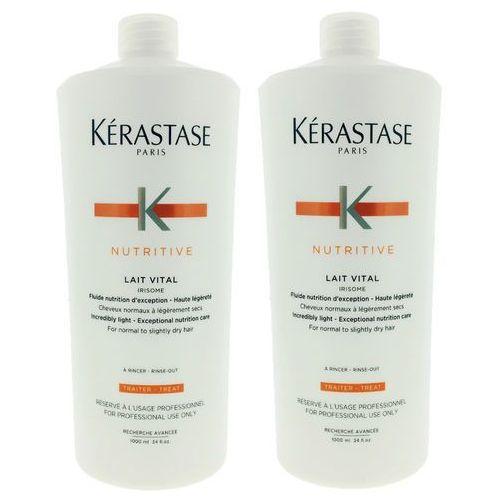 Kerastase lait vital | zestaw: mleczko proteinowe do włosów normalnych i suchych 2x1000ml