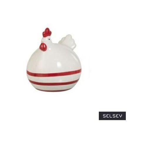 SELSEY Dekoracja Chick ozdobna figurka w paski poziome