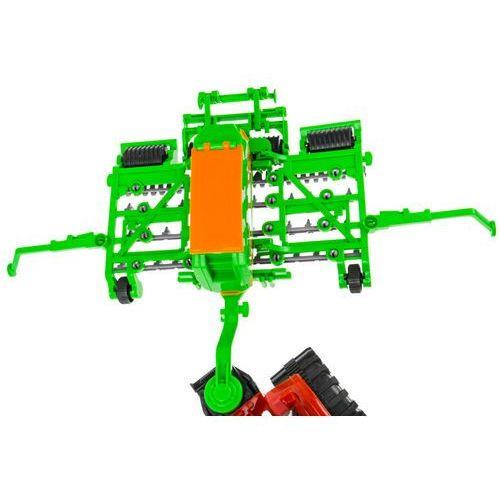 Kindersafe Zestaw 2 ciągników z maszynami - prasa, siewnik - mały rolnik