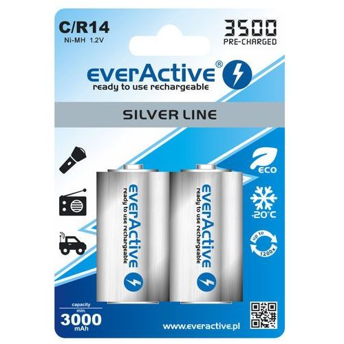 2x akumulatorki everActive R14/C Ni-MH 3500 mAh ready to use (5902020523727)