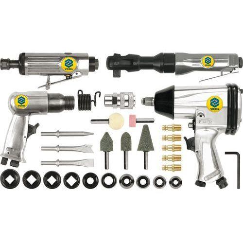 Zestaw narzędzi pneumatycznych z akcesoriami, 33 części / 81142 / VOREL - ZYSKAJ RABAT 30 ZŁ