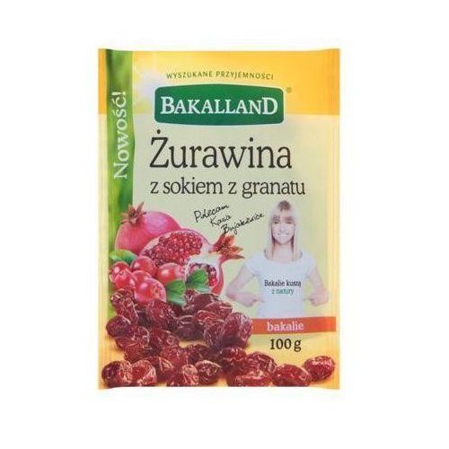 100g żurawina z sokiem z granatu marki Bakalland