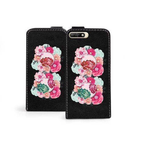 Huawei Y6 (2018) - etui na telefon Flip Fantastic- róże, kolor różowy